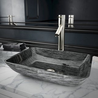 VIGO Dior Bathroom Vessel Faucet in PVD Brushed Nickel