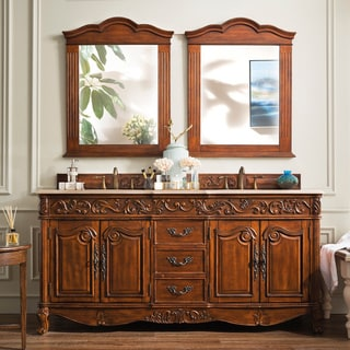 James Martin Furniture Classico 72-inch Double Marble Vanity Set