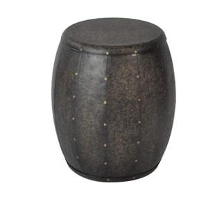 Madison Park Cirque Bronze Metal Accent Drum Table