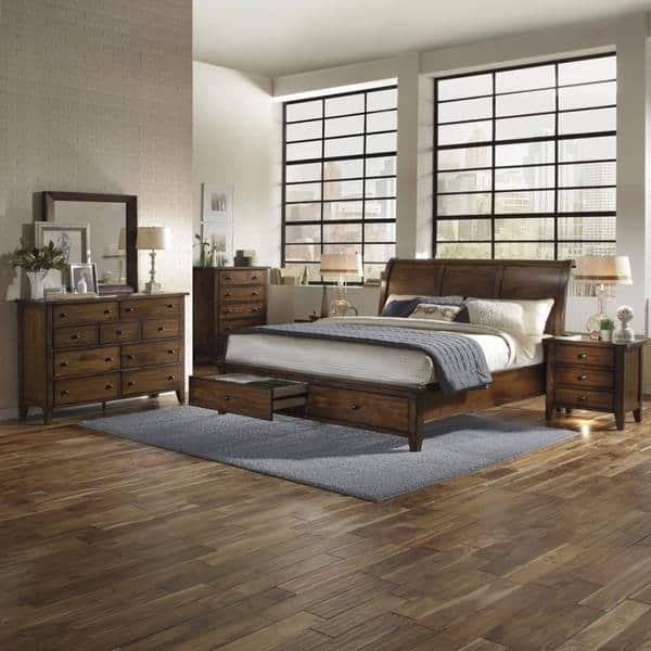 Shop Camden Chestnut Wood 6-piece Storage Bedroom Set - Free ...