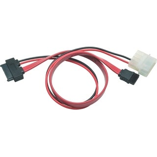 Tripp Lite 12in Slimline SATA to SATA LP4 Power Cable Adapter