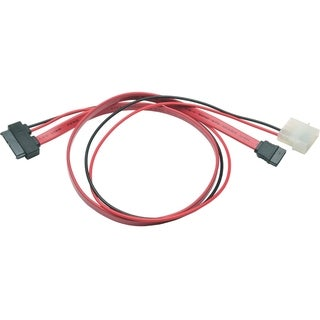 Tripp Lite 20in Slimline SATA to SATA LP4 Power Cable Adapter
