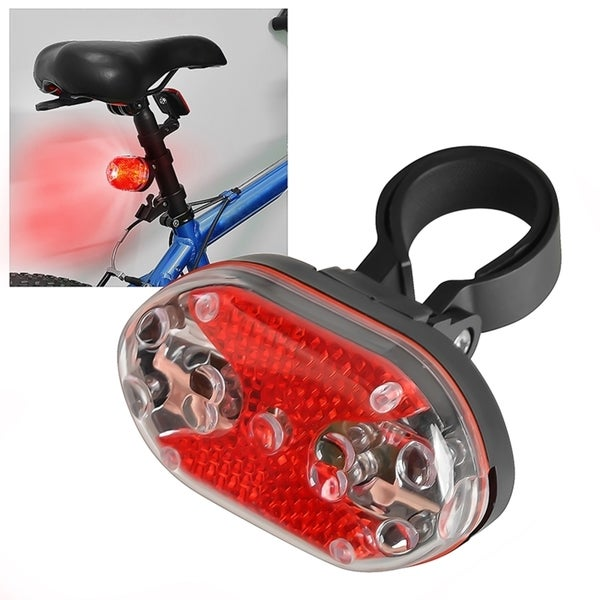 INSTEN 9 LED Safety Bicycle Rear Tail Lamp Head Flash Light Torch