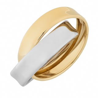 Fremada 10k Two-tone Gold High Polish Rolling Ring