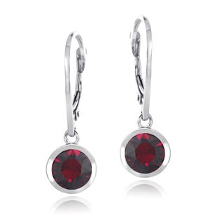 Crystal Ice Sterling Silver Crystal Round Leverback Earrings (More options available)