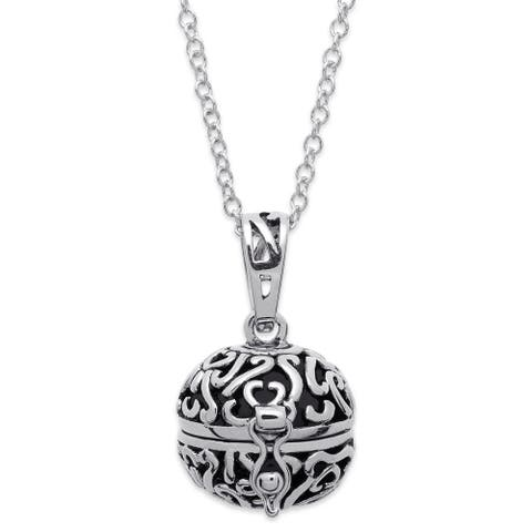 Prayer Keeper Antiqued Ball Pendant with Personalization