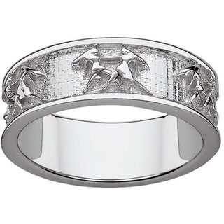 Sterling Silver or Gold over Sterling Gemini Zodiac Band
