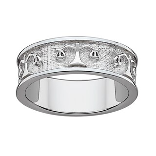 Sterling Silver or Gold over Sterling Libra Zodiac Band (More options available)