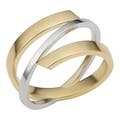 Two-Tone 10.5 Size Cross Gold Rings