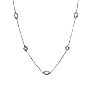 Collette Z Black-plated Sterling Silver Cubic Zirconia Necklace