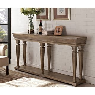 Distressed Pine Console Table|https://ak1.ostkcdn.com/images/products/9412058/P16599785.jpg?impolicy=medium