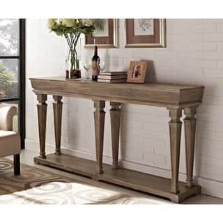 distressed pine console table - Distressed End Tables