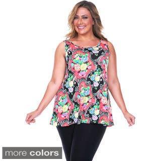 White Mark Women's Plus Size Paisley Tank Top https://ak1.ostkcdn.com/images/products/9412087/P16599810.jpg?impolicy=medium