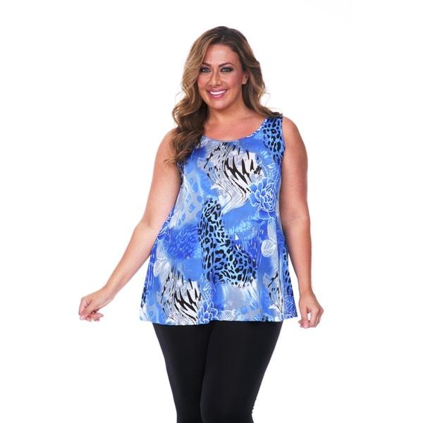 7a1433d51e Shop White Mark Women's Plus Size Animal Print Tank Top - Free ...