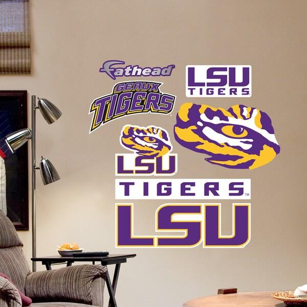 Shop Fathead Jr LSU Tigers Logosheet Wall Decals Free Shipping On Mesmerizing Lsu Bedroom Style Painting