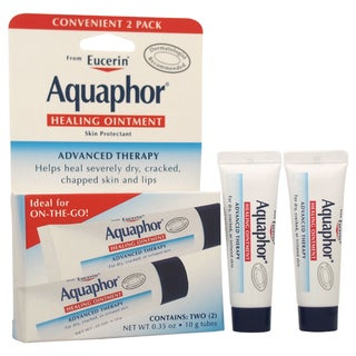 Eucerin Aquaphor Healing Ointment For Dry Cracked Chapped Skin and Lips (Set of 2)