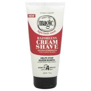 Carson Magic Razorless Extra Strength Soft Sheen Men's 6-ounce Shave Cream