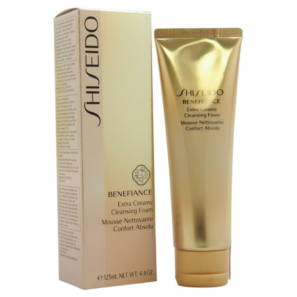 shop shiseido benefiance wrinkle resist 24 extra cream 4 4 ounce cleansing foam free shipping. Black Bedroom Furniture Sets. Home Design Ideas
