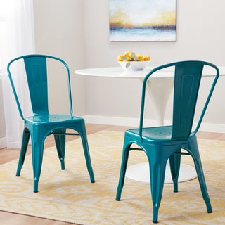 Lovely Carbon Loft Tabouret Bistro Peacock Dining Chairs (Set Of 2)