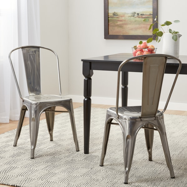 Attrayant Tabouret Bistro Gunmetal Dining Chairs (Set Of 2)