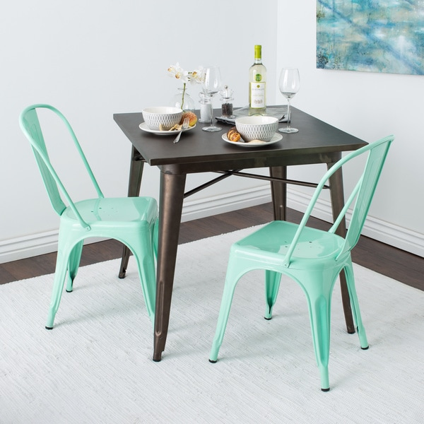 Tabouret Bistro Side Chair Hint Of Mint Set Of 2 Free
