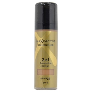 Max Factor Ageless Elixir 2in1 SPF 15 75 Golden Foundation + Serum