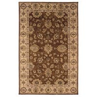 Linon Rosedown Brown/ Goldtone Area Rug