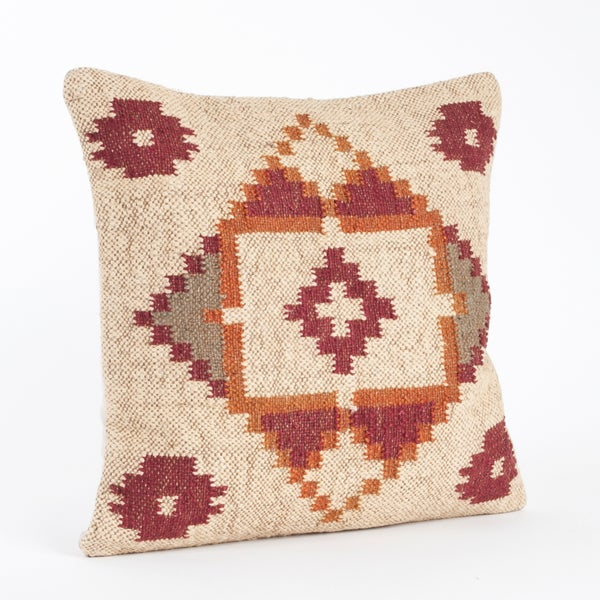 Kilim Design Down Filled 20-inch Throw Pillow