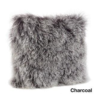 Mongolian Lamb Fur Throw Pillow