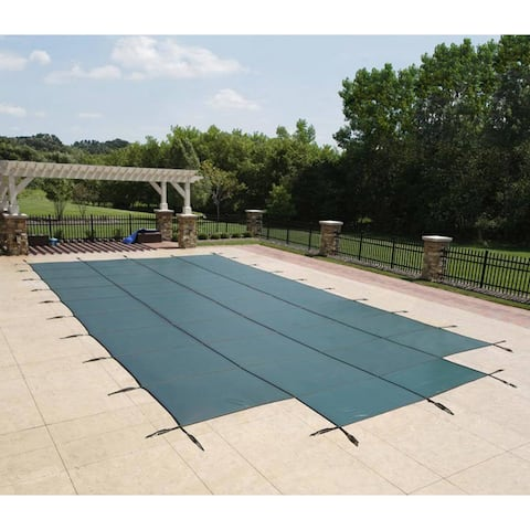 Rectangular In-ground Pool Safety Cover with Center Step