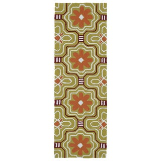 Luau Gold Tile Indoor/ Outdoor Rug (2' x 6') - 2' x 6'