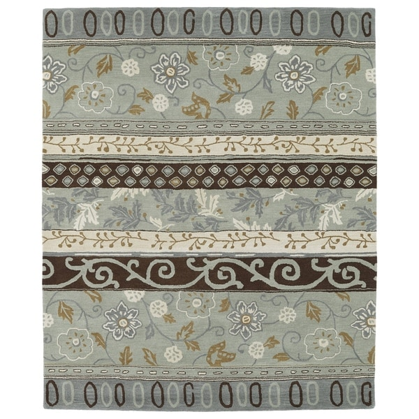 Hand-tufted Anabelle Mint Wool Rug (5' x 7'9)