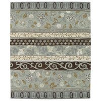 Hand-tufted Anabelle Mint Wool Rug - 5' x 7'9