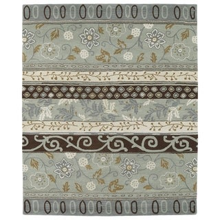 """Hand-tufted Anabelle Mint Wool Rug - 7'6"""" x 9'"""