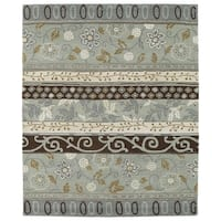 Hand-tufted Anabelle Mint Wool Rug - 7'6 x 9'