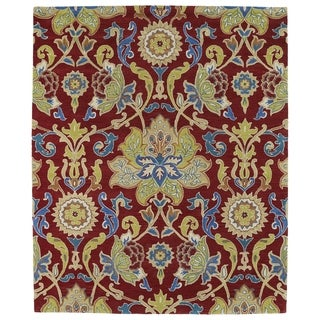 Hand-tufted Anabelle Red Floral Wool Rug (5' x 7'9) - 5' x 7'9