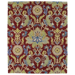 Hand-tufted Anabelle Red Floral Wool Rug - 8' x 11'