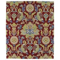 Hand-tufted Anabelle Red Floral Wool Rug (8' x 11') - 8' x 11'
