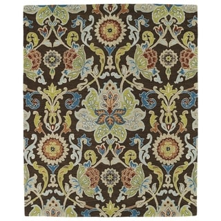 Hand-tufted Anabelle Chocolate Floral Wool Rug (5' x 7'9) - 5' x 7'9
