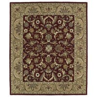 Hand-tufted Anabelle Red Kashan Wool Rug - 8' x 11'