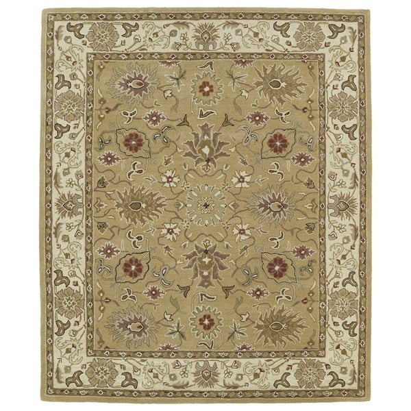 """Hand-tufted Anabelle Camel Kashan Wool Rug (5' x 7'9) - 5' x 7'9"""""""
