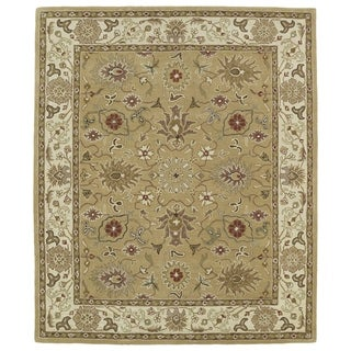 Hand-tufted Anabelle Camel Kashan Wool Rug (5' x 7'9)