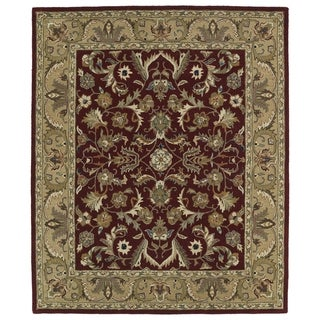 "Hand-tufted Anabelle Red Kashan Wool Rug (7'6 x 9') - 7'6"" x 9'"