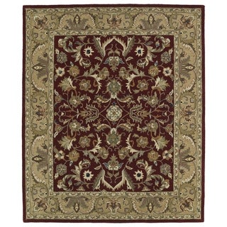 Hand-tufted Anabelle Red Kashan Wool Rug (7'6 x 9')