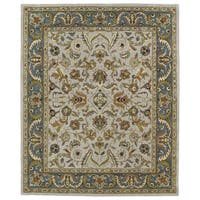 Hand-tufted Anabelle Taupe Kashan Wool Rug (8' x 11')