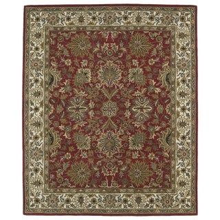 Hand-tufted Anabelle Red Agra Wool Rug (8' x 11') - 8' x 11'
