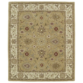 Hand-tufted Anabelle Camel Kashan Wool Rug (7'6 x 9')