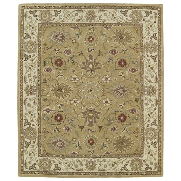 Hand-tufted Anabelle Camel Kashan Wool Rug (8' x 11') - 8' x 11'