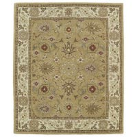 Hand-tufted Anabelle Camel Kashan Wool Rug (8' x 11')