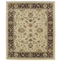 Hand-tufted Anabelle Gold Kashan Wool Rug (7'6 x 9')